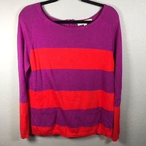 Loft stripe sweater size large petite